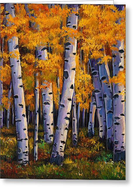 Autumn Aspens Greeting Cards - Whispers Greeting Card by Johnathan Harris