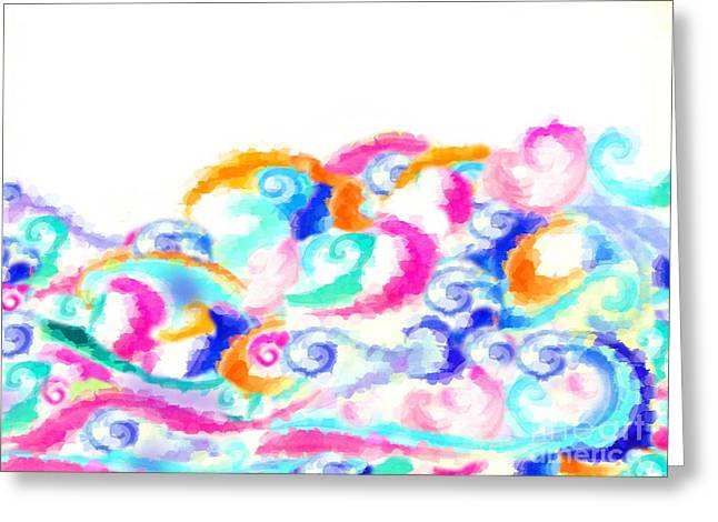 Abstract Expressionist Greeting Cards - Whisps Greeting Card by Expressionistar Priscilla-Batzell