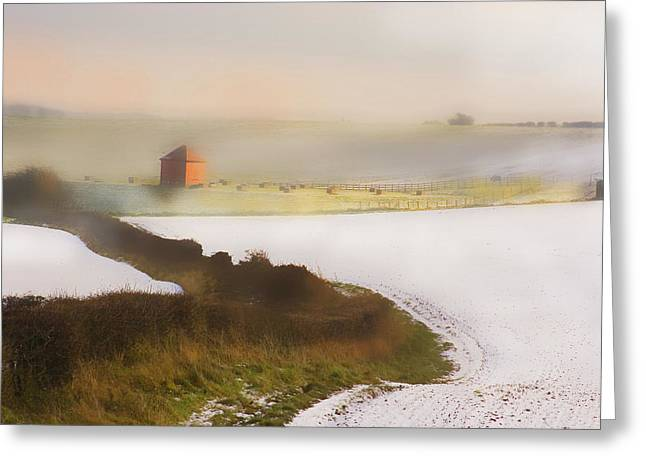Valuable Greeting Cards - Whispy Winter Landscape Greeting Card by Aleck Rich Seddon