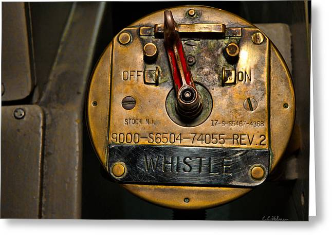 Christopher Holmes Greeting Cards - Whistle Switch Greeting Card by Christopher Holmes