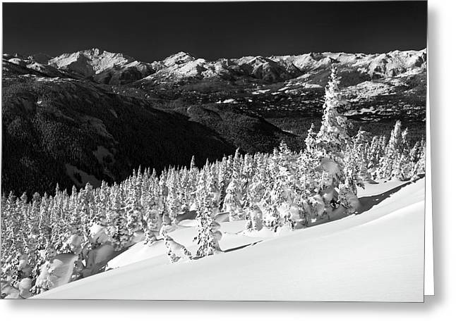 Whistler Greeting Cards - Whistler mountain winter scenery Greeting Card by Pierre Leclerc Photography