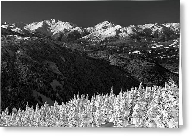 Black Greeting Cards - Whistler winter scenery Greeting Card by Pierre Leclerc Photography