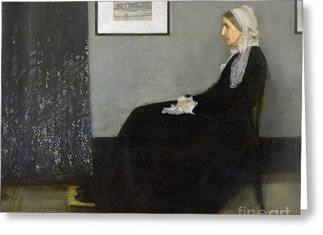 Woman Canvas Greeting Cards - Whistlers Mother Greeting Card by James Abbott McNeill Whistler