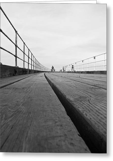 Whitby Greeting Cards - Whitby Pier Greeting Card by Svetlana Sewell