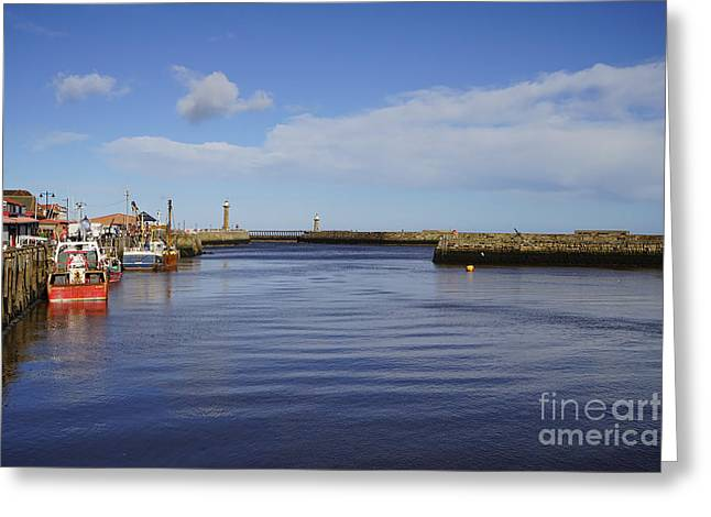 Whitby Greeting Card by Stephen Smith