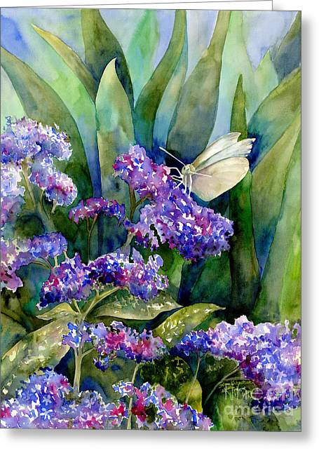 White Paintings Greeting Cards - White Butterfly Greeting Card by Amy Kirkpatrick