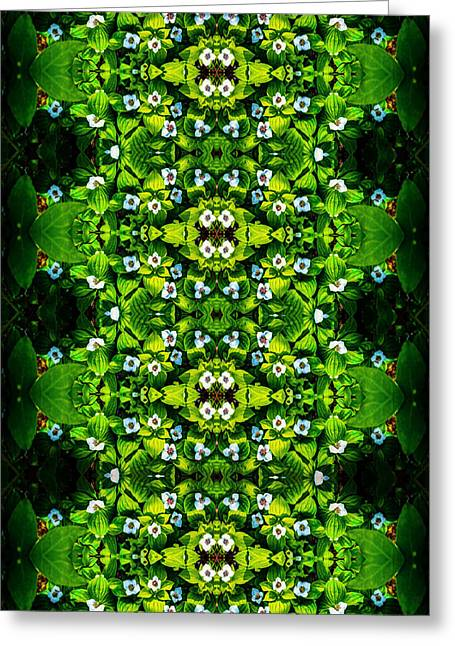 White Tapestries - Textiles Greeting Cards - White Buttons Greeting Card by Kaleidoscopic Visions