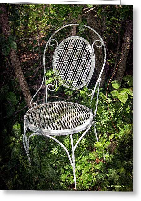 White Chair Greeting Card by Brian Wallace