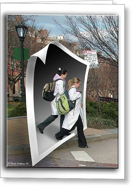 Pages Of Life Photographs Greeting Cards - White Coats Greeting Card by Brian Wallace