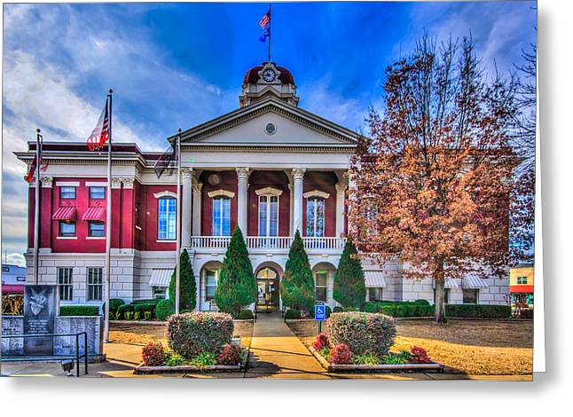Searcy Greeting Cards - White County Courthouse Greeting Card by Rod Cuellar