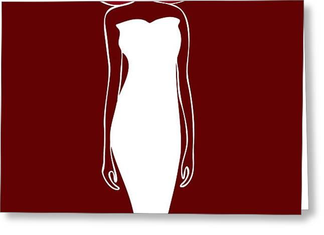 White Dress Greeting Card by Frank Tschakert