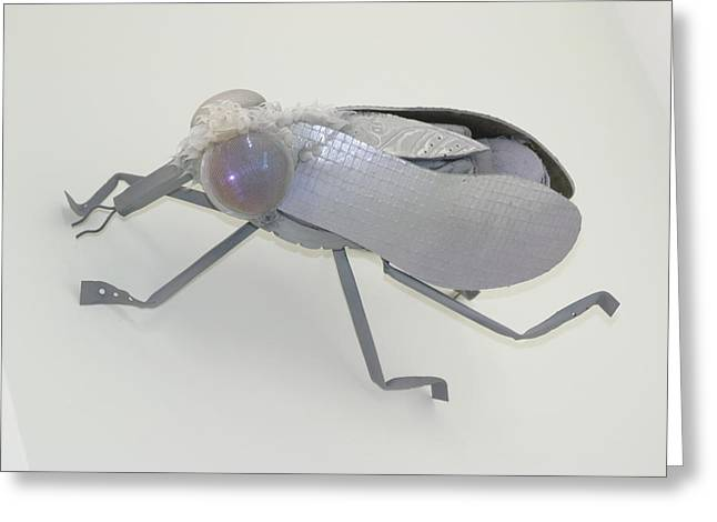 Insect Sculptures Greeting Cards - White Fly Greeting Card by Michael Jude Russo