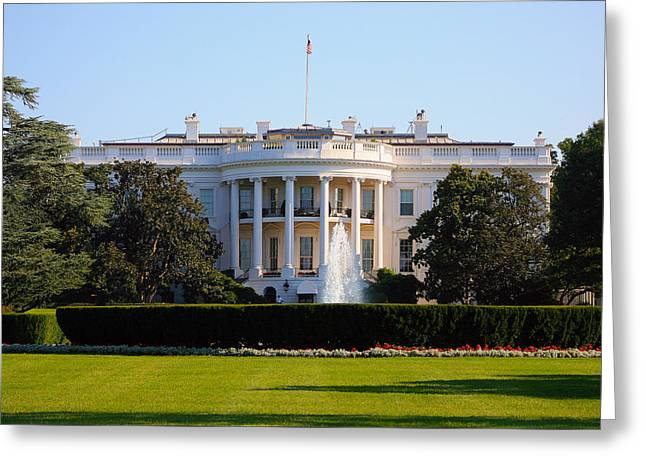 White House Greeting Card by Trevor McGoldrick