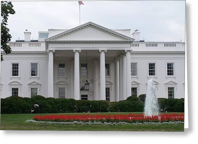 White House Greeting Card by Vijay Sharon Govender