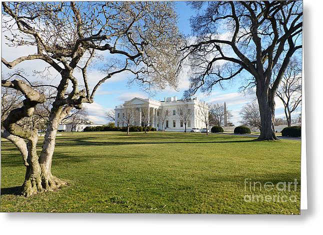 White House, Washington D.c. Usa Greeting Card by Ivan Batinic