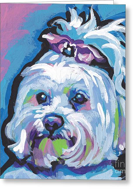 Maltese Dogs Greeting Cards - White is white Greeting Card by Lea