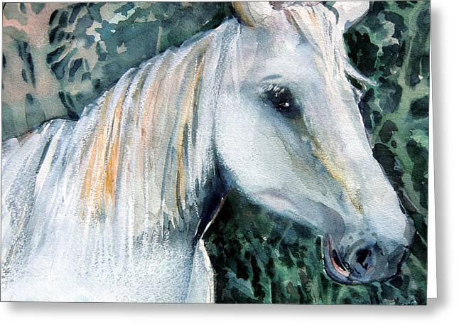 White Horse Pastels Greeting Cards - White Magic Greeting Card by Mindy Newman