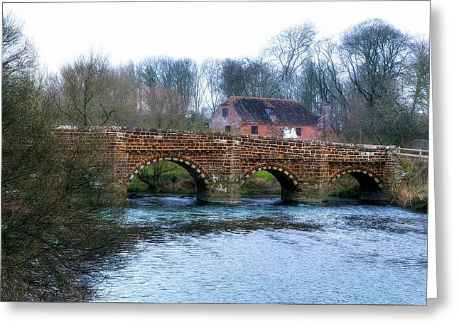 White Mill - England Greeting Card by Joana Kruse
