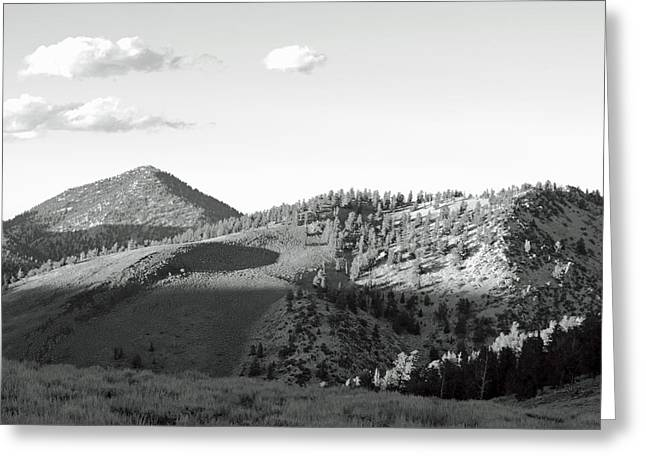White Pine County Greeting Cards - White Mountain Sunset Greeting Card by Troy Montemayor