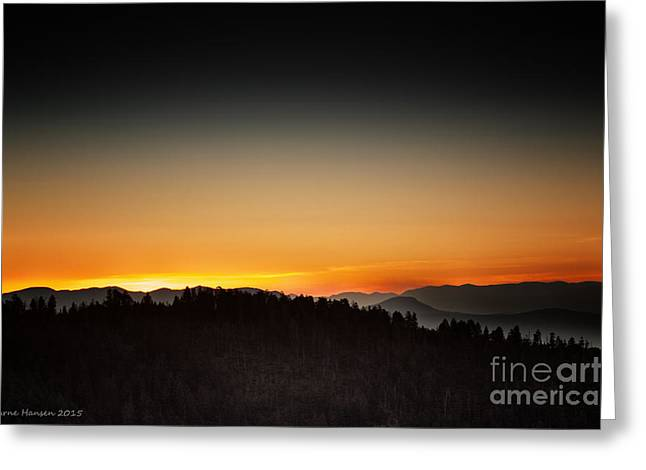White Mountains Sunrise Greeting Card by Arne Hansen