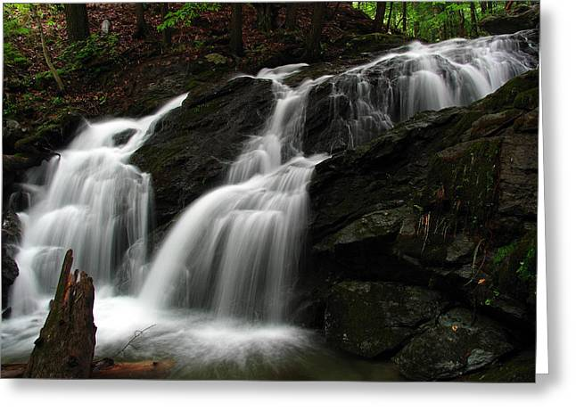 White Mountains Waterfall Greeting Card by Juergen Roth