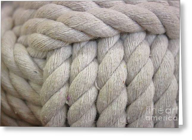 White Nautical Rope Greeting Card by Paulette Thomas