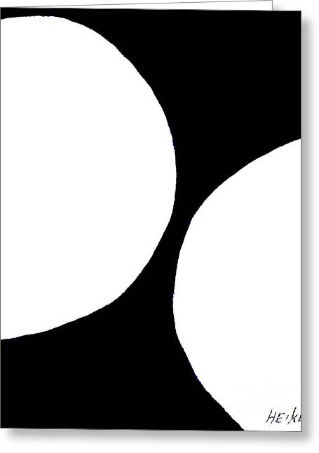 Abstract Orbs Greeting Cards - White Orbs Greeting Card by Marsha Heiken