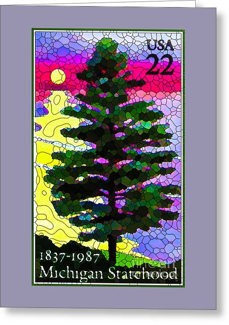 Plant Greeting Cards - White Pine Greeting Card by Lanjee Chee