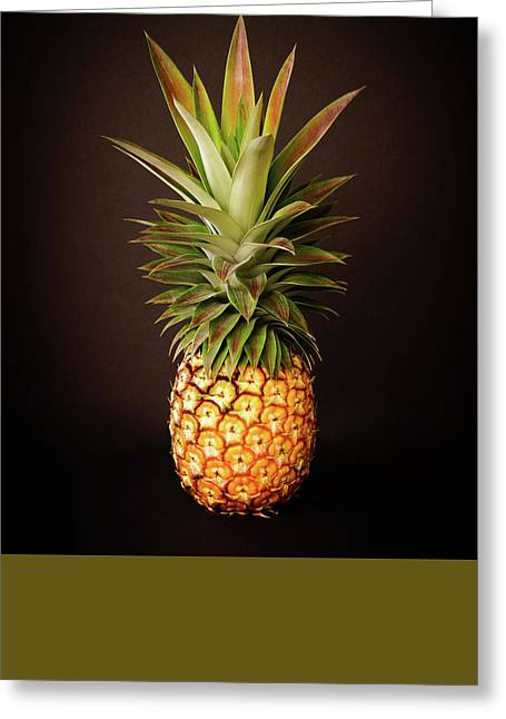 Healthy Greeting Cards - White Pineapple King Greeting Card by Denise Bird