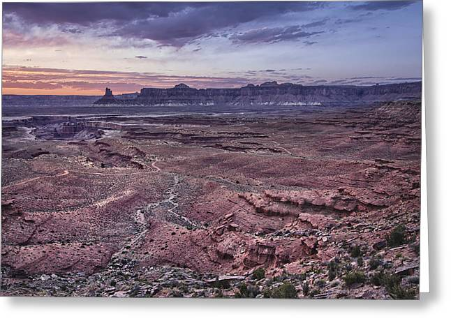 Jeeps Greeting Cards - White Rim Trail Vista Greeting Card by Adam Romanowicz