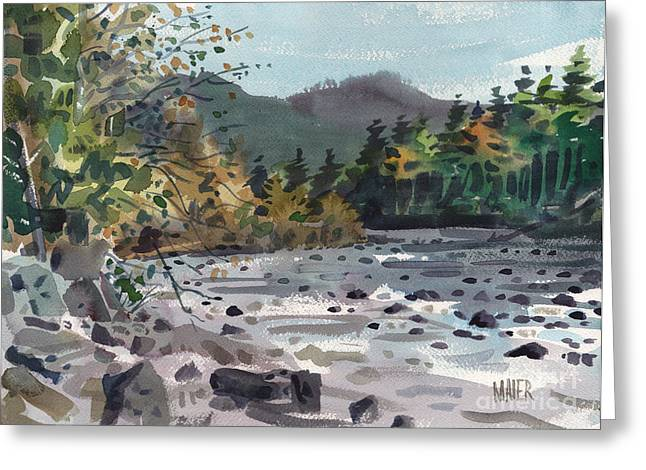 White River Greeting Cards - White River in Autumn Greeting Card by Donald Maier