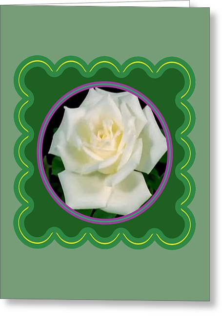 Fineartamerica Greeting Cards - White Rose Flower Floral posters photography and graphic fusion art NavinJoshi FineArtAmerica Pixels Greeting Card by Navin Joshi