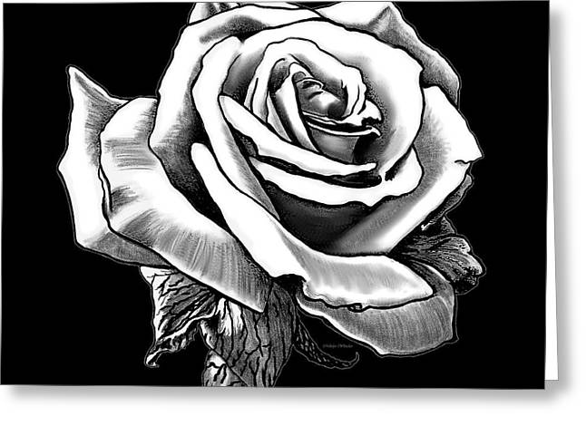 Pillow With Roses Greeting Cards - White Rose Greeting Card by Melodye Whitaker