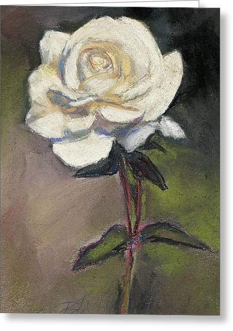 White Rose Of Love Greeting Card by Billie Colson