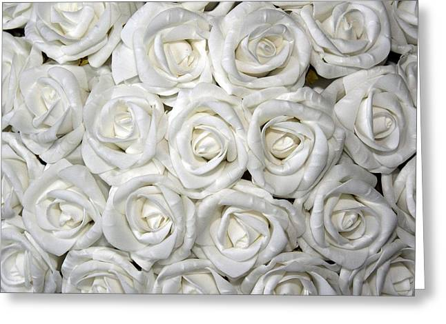 Rose Petals Greeting Cards - White roses Greeting Card by FL collection