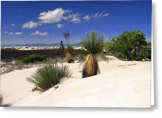 White Sands Greeting Card by Kurt Van Wagner