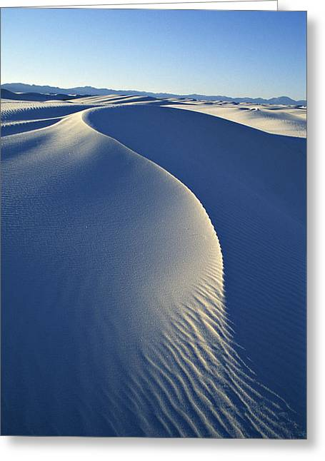 Ease Greeting Cards - White Sands National Monument Greeting Card by Dawn Kish