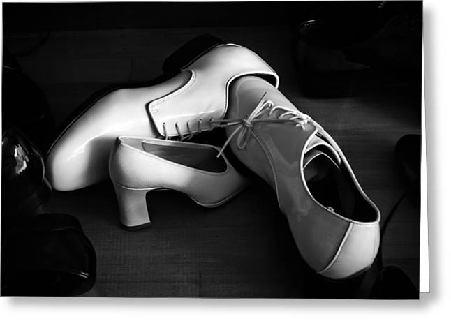 Mens Shoe Greeting Cards - White Shoes For Rent Greeting Card by Bob Orsillo