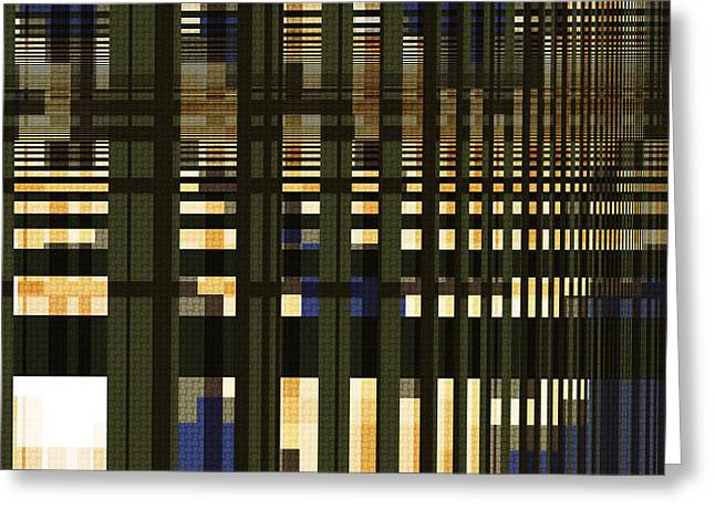 Rectangles Greeting Cards - White Space - Abstract Art Greeting Card by Vic Eberly