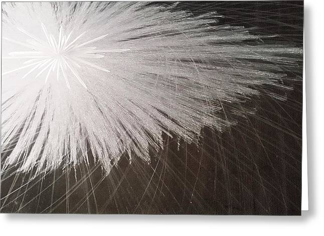 For Sale Glass Art Greeting Cards - White Spark Greeting Card by Robert Zeman