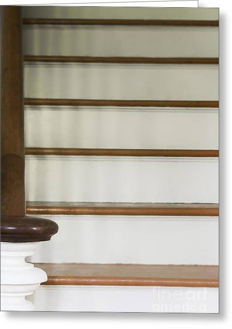 White Stairs Greeting Card by Margie Hurwich