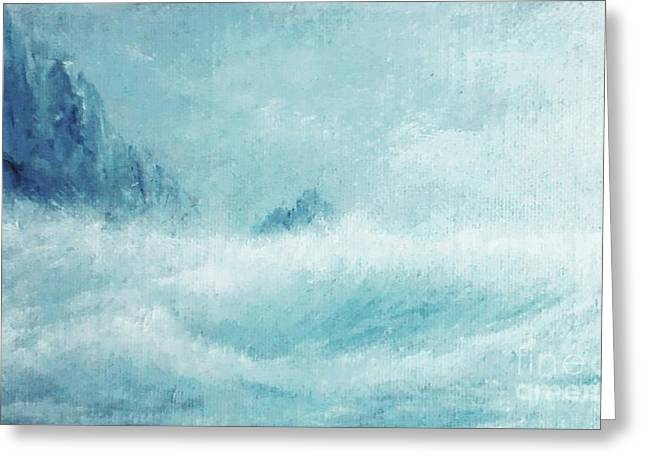 Etc. Paintings Greeting Cards - White Storm Greeting Card by Paul Rowe