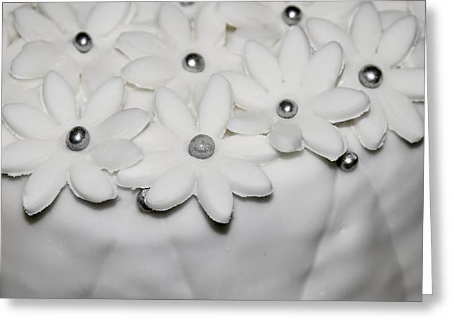 Flower Design Greeting Cards - White sugar flowers Greeting Card by Jozef Jankola