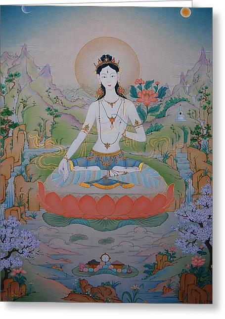 White Tara Painting By Binod Art School