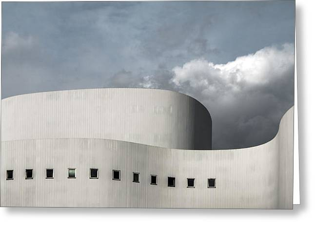 Theatre Photographs Greeting Cards - White Theater Greeting Card by Gilbert Claes