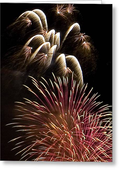 4th July Greeting Cards - White Trails Greeting Card by David Patterson