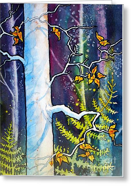Sienna Greeting Cards - White Tree Greeting Card by Teresa Ascone