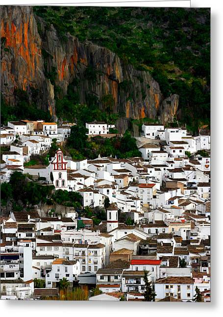 Pueblo Blanco Greeting Cards - White Village of Ubrique Spain Greeting Card by Bruce Nutting