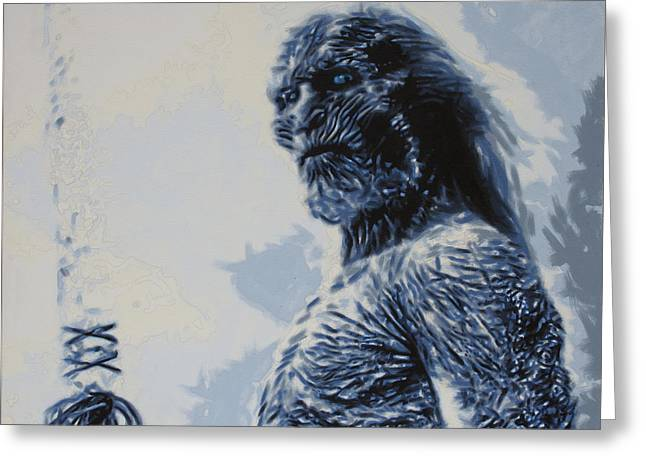 Up And Coming Greeting Cards - White Walker Greeting Card by Luis Ludzska