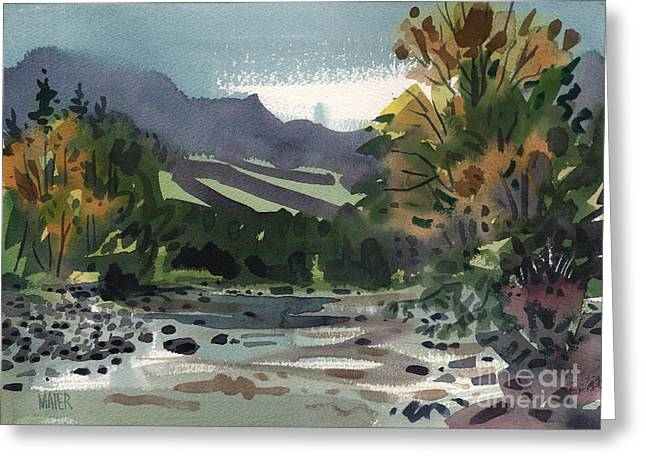 White Paintings Greeting Cards - White Water on the White River Greeting Card by Donald Maier
